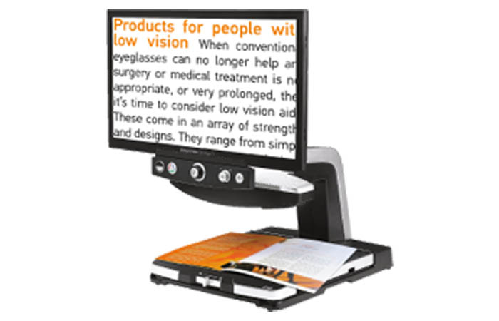 """SmartView Synergy PI 23"""" video magnifier with standard control"""
