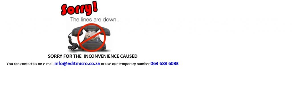 Our landlines are down