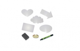 Dry wipe board kit for Talking Tins