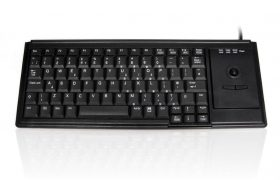 Accuratus K82D - USB Premium Mini Scissor Key Keyboard with Trackball
