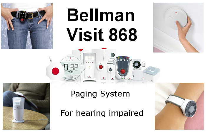 Bellman Visit 868 Paging System For Hearing Impaired And