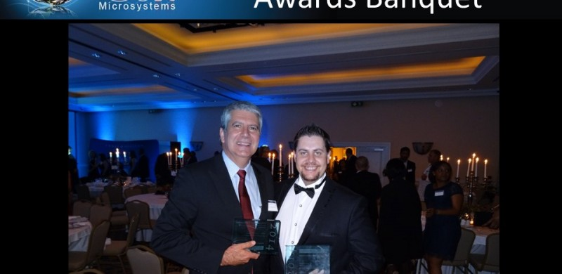 Edit Microsystems celebrates the Best Practice win at the Frost and Sullivan Award banquet