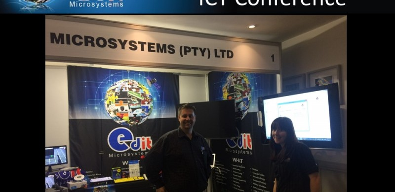 Some of the Edit Microsystems team at the conference