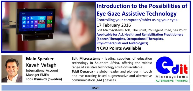 Eye Gaze Assistive tech workshop by Edit Microsystems