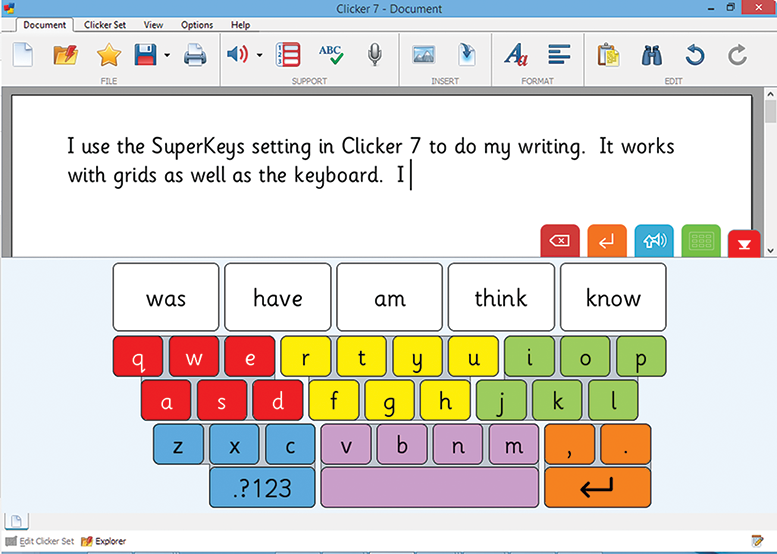 SuperKeys in Clicker 7