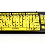 Accuratus Monster 2 - High Vis Vision Impairment Keyboard with Large Keys by Edit Microsystems