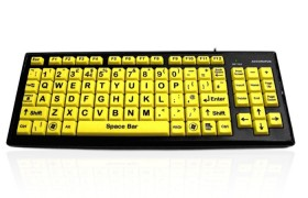 Accuratus Monster 2 - High Visibility Vision Impairment Keyboard with Large Keys