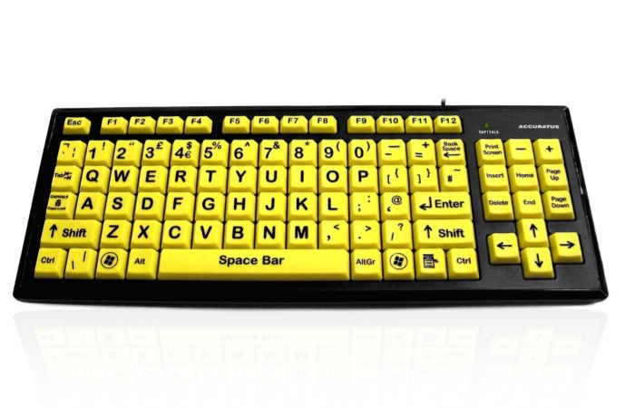 Accuratus Monster 2 – High Visibility Vision Impairment Keyboard with Large Keys
