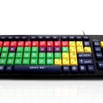 Accuratus Monster 2 - USB Mixed Colour Lower Case Childrens Keyboard for Learning with Extra Large Keys by Edit Microsystems