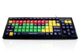 Accuratus Monster 2 - Mixed Colour Lower Case with Large Keys