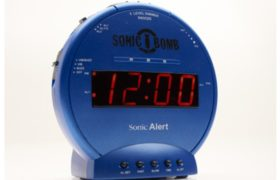 Sonic Bomb Blue Alarm Clock with Super Shaker