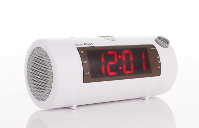 Sonic Alert Blast – Super Loud Projection Alarm Clock With Bluetooth Speaker