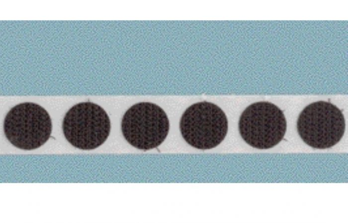 Economy Adhesive Backed 1/2″ Loop Coins- Roll of WHITE