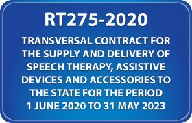 National Treasury RT275-2020 Catalogue