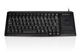 Accuratus K82D - USB Premium Mini Scissor Key Keyboard with Trackball