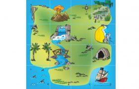Bee-Bot® and Blue-Bot Treasure Island Mat