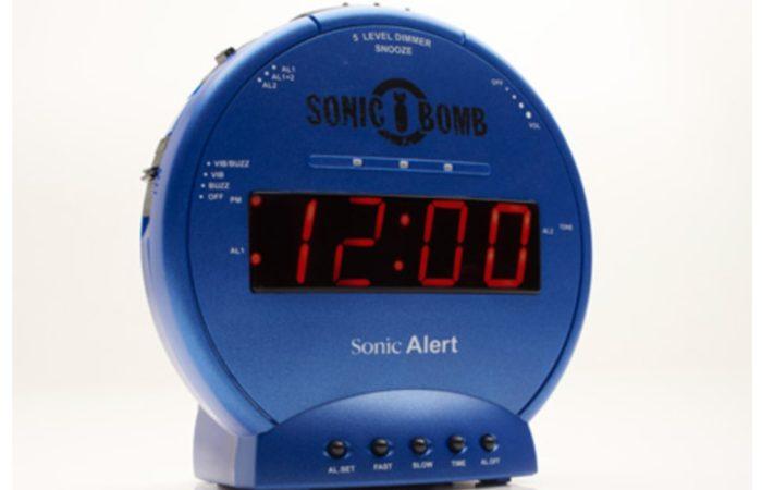 Sonic Alert Bomb Blue Alarm Clock with Super Shaker
