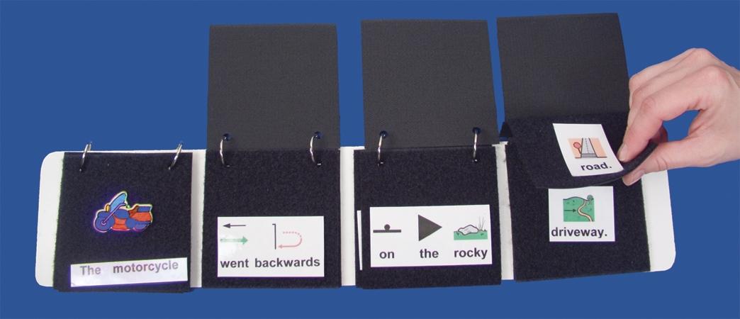 Literacy Flip Strip Black Loop Fabric Pages